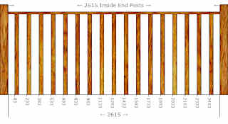 Baluster Spacing Calculator